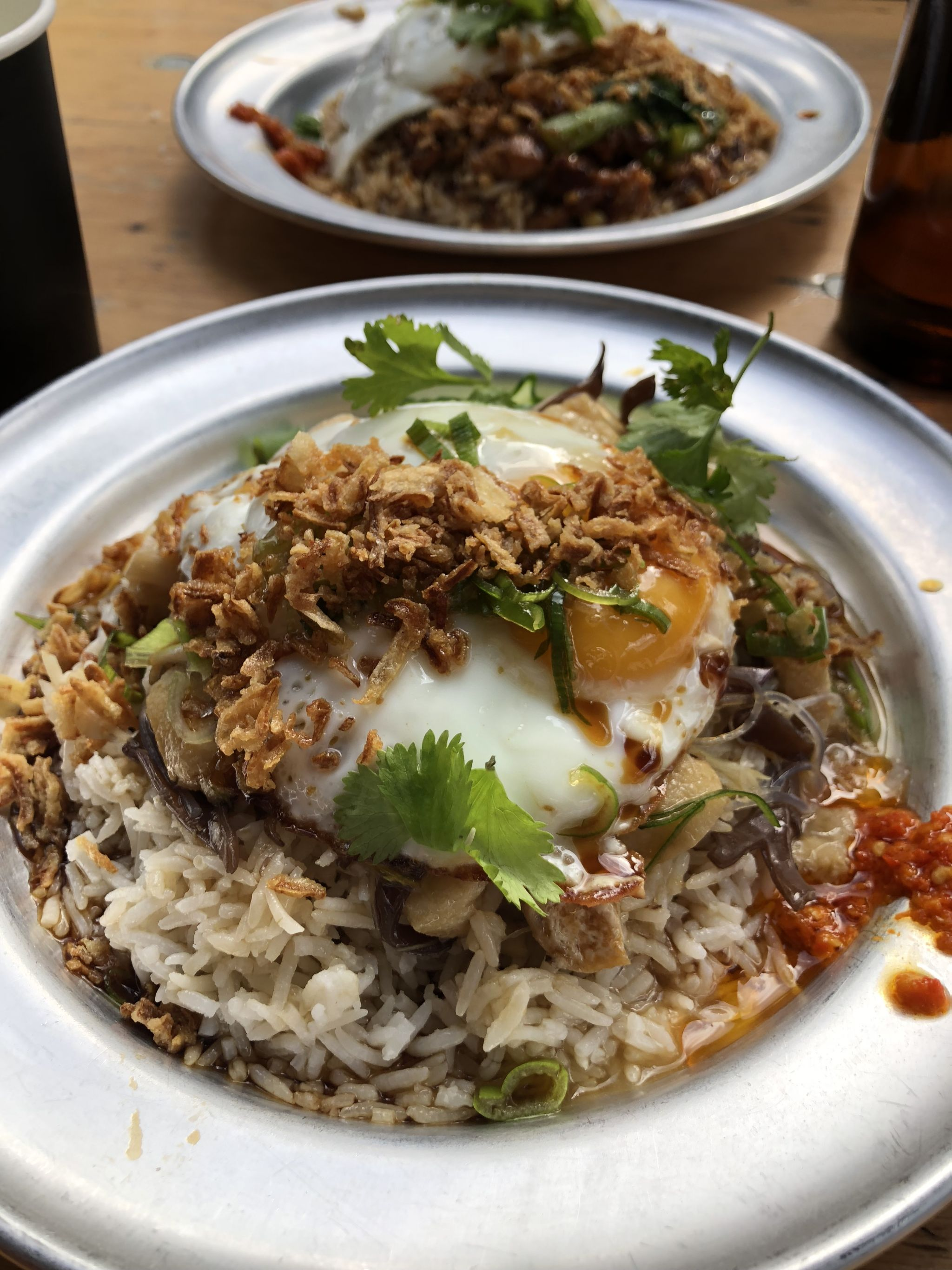 fried egg on rice